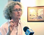 总部位于美国首都华盛顿的人权法律基金会发出紧急呼吁,指出中共当局的行为完全属于违法行事﹔作为一名良心犯,锺鼎邦应立即被释放,并让其返台回家。图为人权法律基金会执行长泰瑞-玛什(Terri Marsh)(大纪元图片)