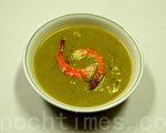 青豆鲜虾浓汤