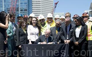 州长布朗签署筹资法案 高铁将成为现实