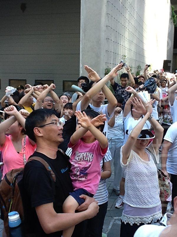 香港人不要洗腦國民教育科,荼毒下一代的思想。(攝影:吳雪兒/大紀元)