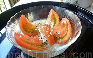 涼拌味噌蕃茄