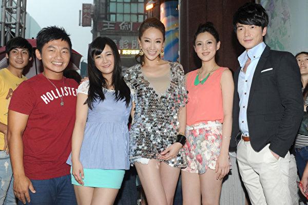 左起為:演員蔡昌憲、大元、隋棠、朱芯儀、李沛旭。(圖/凱特文化提供)