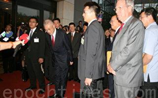 台湾副总统吴敦义过境洛杉矶