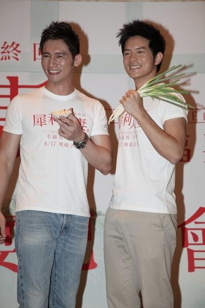 導演王珮華說,溫昇豪與宥勝戲內是情敵,戲外是好哥兒們。(圖/穀得電影提供)