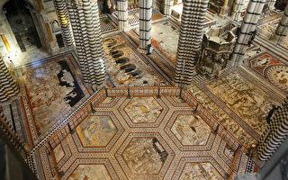 组图:锡耶纳大教堂 珍贵地板对外开放