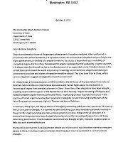 一百零六位美國國會議員致國務卿的聯名信,要求公開中共活摘器官罪行。(圖:明慧網)