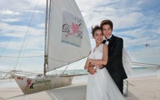 胡宇威與陳庭妮赴長灘島 上演浪漫閃婚
