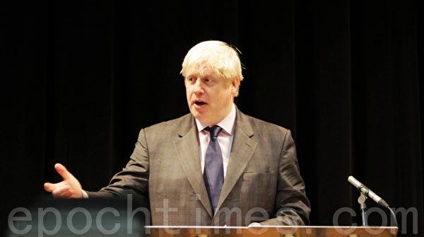 6月20日,英國前外交大臣約翰遜(Boris Johnson)以壓倒性票數,進入英國保守黨領袖的最後一輪競選。(李瑩/大紀元)