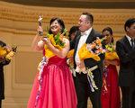 """来自日本的选手女高音Azusa Dodo获得了第六届""""全世界歌剧唱法声乐大赛""""女声组银奖。(摄影:爱德华/大纪元)"""