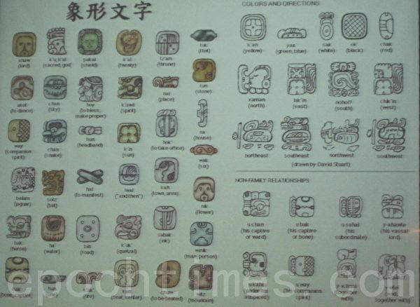 瑪雅的象形字。(攝影:鍾元/大紀元)