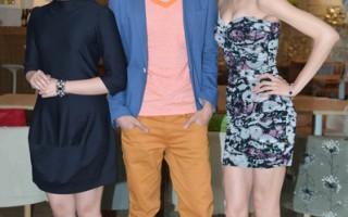 新劇《愛情女僕》主演(左起為)喻虹淵、張棟樑與王凱蒂一起出席見面會。(圖/三立提供)