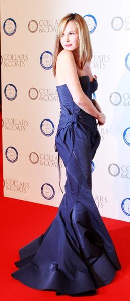 英国著名的主持人和最著名的选秀节目《英国有天才》(Britain's got talent) 的评委之一阿曼达•霍顿(Amanda Holden)现身筹款晚会(摄影:李景行/大纪元)