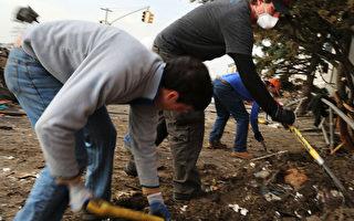 紐約客上街頭 清理災區獻愛心