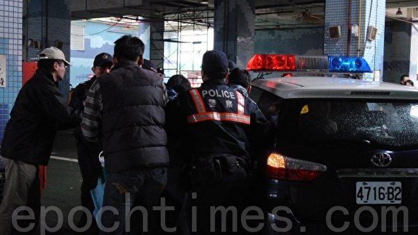 基隆市警察局举办防抢演练,除保卫民众身家安全,也作防备、战斗等自我检测。(摄影:周美晴/大纪元)