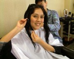 朱芯儀為詮釋角色她阿莎力配合劇組剪掉20公分長髮。(圖/中視提供)