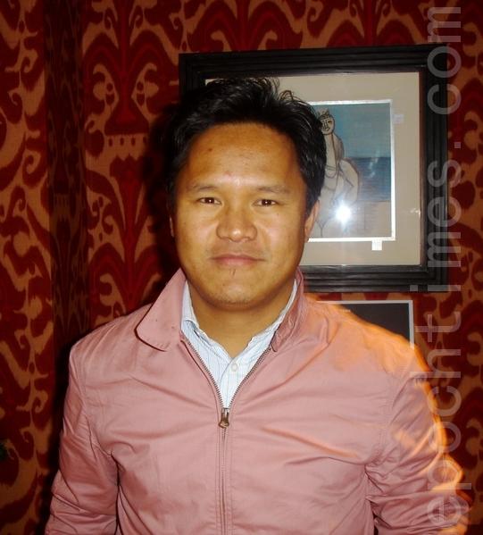 英國西藏社區議會的活動主管洛桑班帕(Pempa Lobsang)。(攝影:李景行/大紀元)