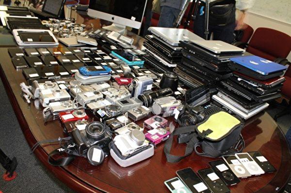 警方公布了被破获的汽车盗窃团伙的赃物(SFPD提供)
