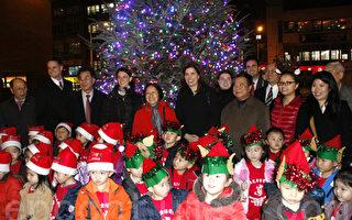 孔廈點亮聖誕樹 祝願華埠經濟復甦