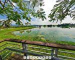 高雄720°空間影像網收集了美濃中正湖的環景畫面。(高雄市政府都發局提供)