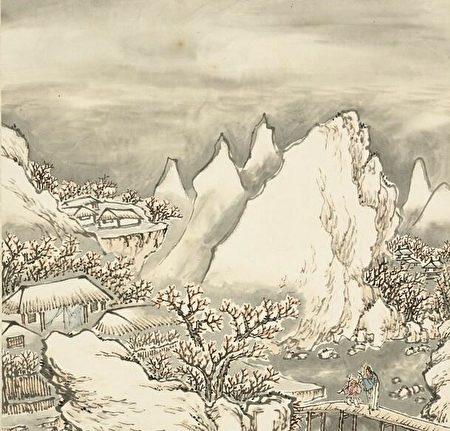 《雪山探梅》。(公有領域)