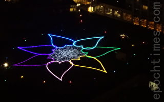 3萬個LED的「彩虹花」