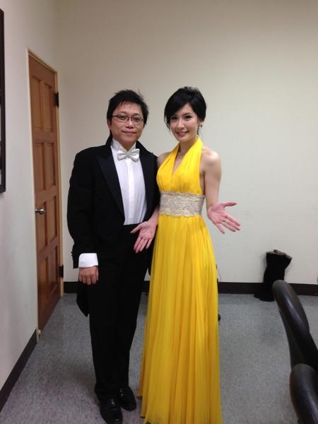 《維也納新年音樂會》林家琪(右)與張堯。(圖/台視提供)