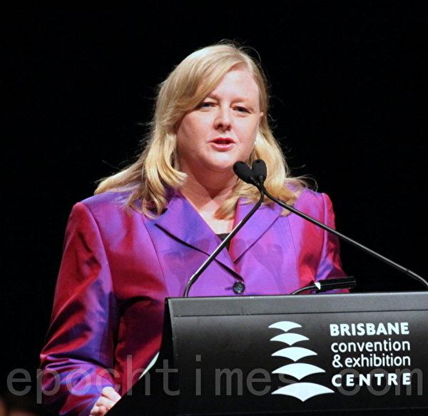 市議員Cr. Angela Owen-Taylor擔任大會司儀。(攝影:林珊如/大紀元)