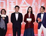 《中國先生》的導演陳可辛,主演佟大為、杜鵑、鄧超接受採訪。(圖/甲上提供)
