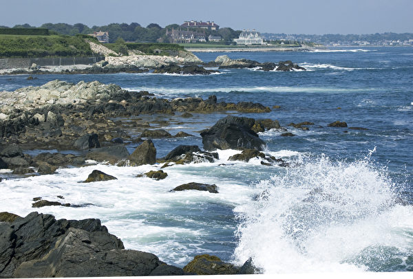 羅德島州新港海岸美景。(攝影:徐明/大紀元)
