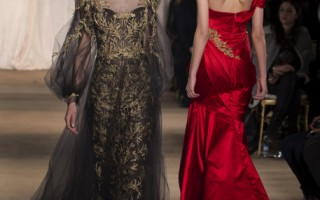 组图:纽约秋冬时装周Marchesa奢华礼服