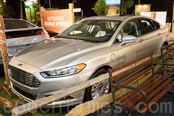重新设计的2013款福特Fusion Energi体现福特下一代更具表现力的汽车。(摄影:艾文/大纪元)