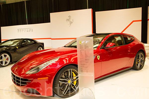 法拉利超级跑车。(摄影:艾文/大纪元)
