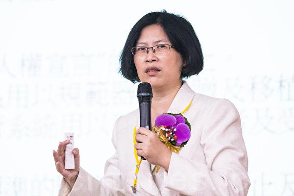 台湾法轮功人权律师朱婉琪。(摄影:陈柏州 /大纪元)