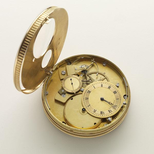 弹簧驱动的钟摆上的时钟,钟盒查尔斯.克莱森特(1685-1768),机械部件耶拿. 巴蒂斯.德拉罗什。(图由弗里克美术收藏馆提供)