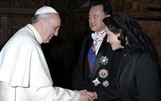 教宗接見台駐教廷大使王豫元夫婦