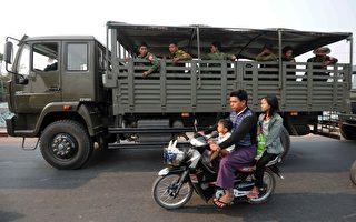 缅甸密特拉街头戒备森严