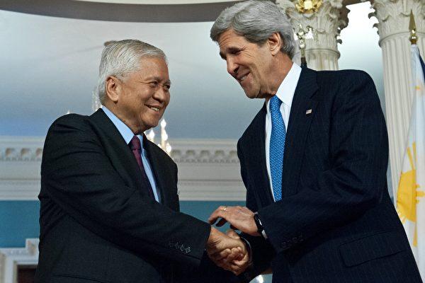美菲外長會晤 談仲裁解決南海問題