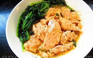 速變料理:明太子醬鮭魚鮮菠