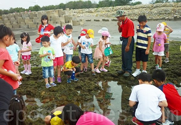 觀音鄉保生村位於觀音鄉西南方海濱,舉辦多次藻礁生態教學。(攝影:陳建霖/大紀元)