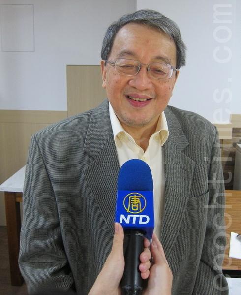 资深评论员、台湾青年反共救国团理事长林保华  。(摄影:钟元 /大纪元)
