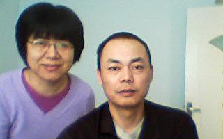 """""""权力运动""""负责人胡军(右)呼吁中国群众退出中共邪恶体制,惩戒对整个人类、对中国人犯下罪恶的人。左为维权律师李天天。(网络图片)"""
