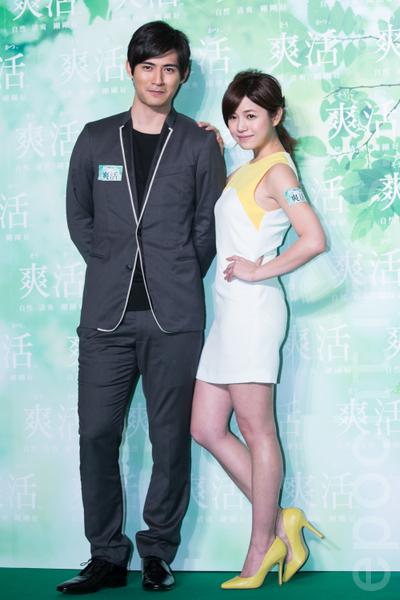 周渝民、陳妍希兩人再度合作拍廣告。(攝影:陳柏州/大紀元)