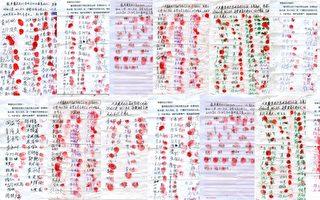 """湖北戴美霞被""""六一零""""迫害 二千人签名手印抗议"""
