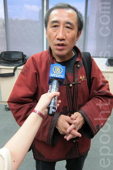 內蒙古人民黨黨主席席海明。(攝影:鍾元/大紀元)