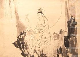 组图:清帝皇孙溥心畬书画在台湾展出