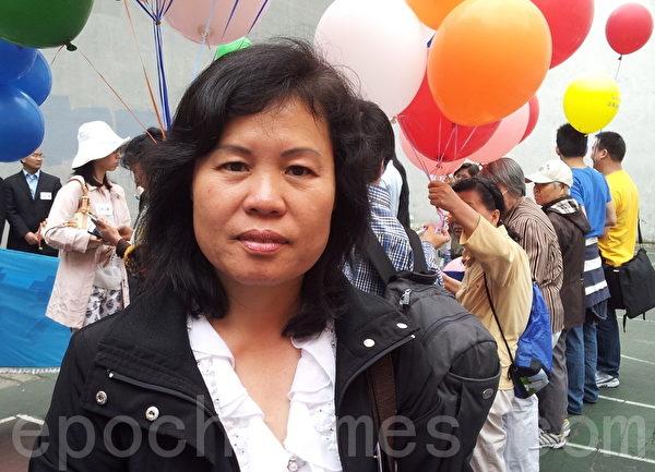 马三家劳教所幸存者、法轮功学员杨秀琴。(摄影:陈天成/大纪元)