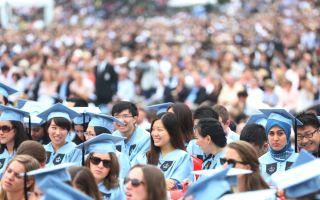哥大畢業禮華裔眾多 中國留美學生十年翻三番