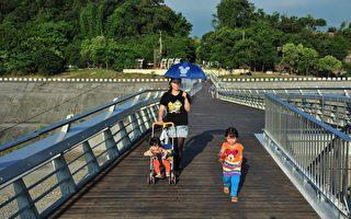 旗山地景橋啟用 兼具自然生態與避災防洪