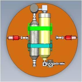 過氣化氫單基推進器系統。(中華民國國家實驗研究院太空中心提供)