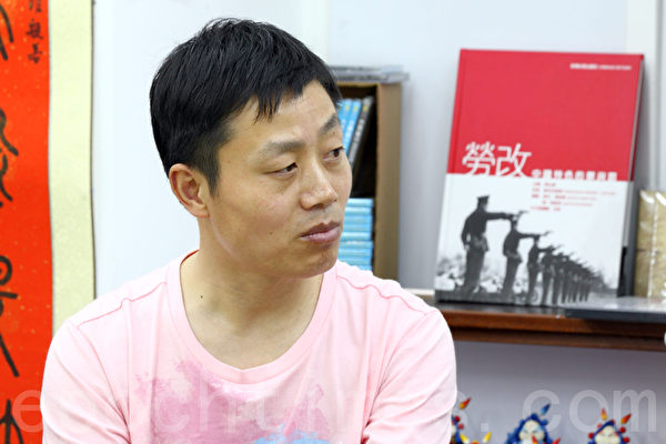 杜斌上月來港出席《小鬼頭上的女人》記錄片首映,他曾強調不怕中共秋後算帳。(攝影: 潘在殊/大紀元)